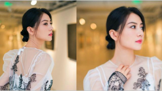 美得像花!高圆圆身穿薄纱透视裙女神范十足