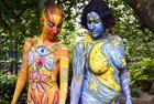 纽约举行人体彩绘日活动