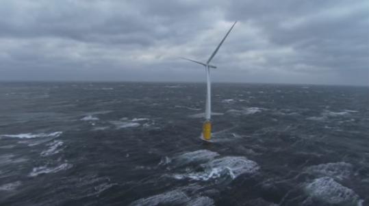 全球首座漂浮风电厂初现雏形 可为2万家庭供电