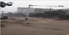 陕西榆林市遭暴雨袭击