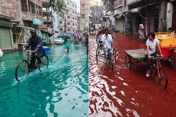 """半个月时间 孟加拉首都达卡""""血河""""变""""碧海"""""""
