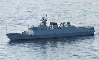 黄石舰抵海参崴参加海洋之杯比赛