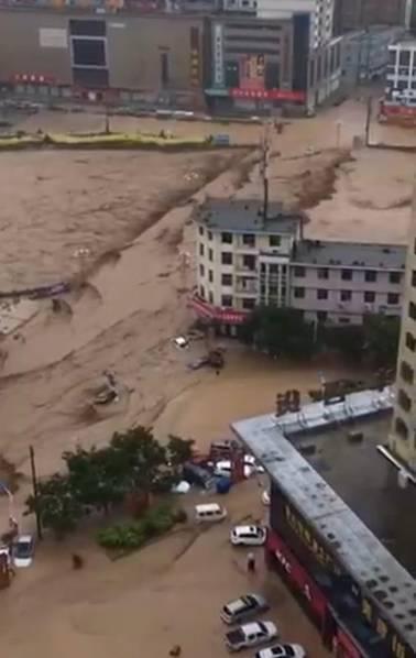 陕西特大暴雨现场 有水库决堤