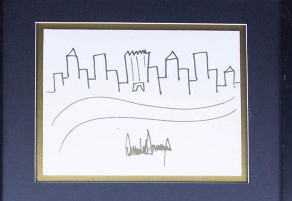 特朗普手绘画起拍价9000美元
