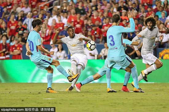 国际冠军杯-内马尔破门卢卡库无功 巴萨1-0曼联