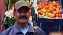 """印度现""""西红柿大盗"""" 商人请保镖持枪全程守卫"""