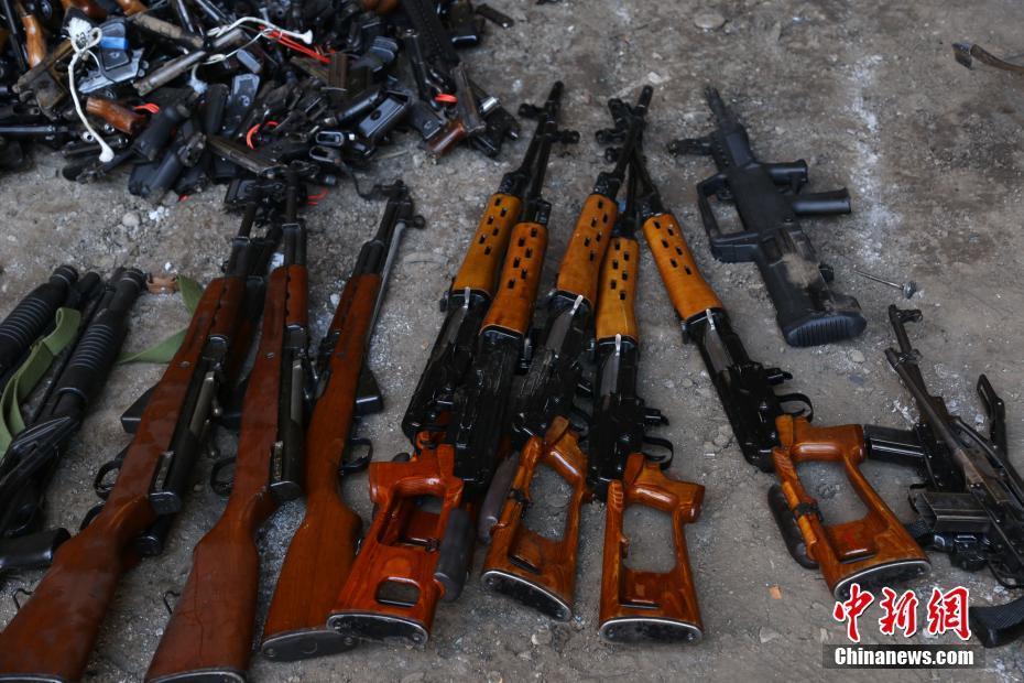 贵阳警方集中统一销毁非法枪爆物品