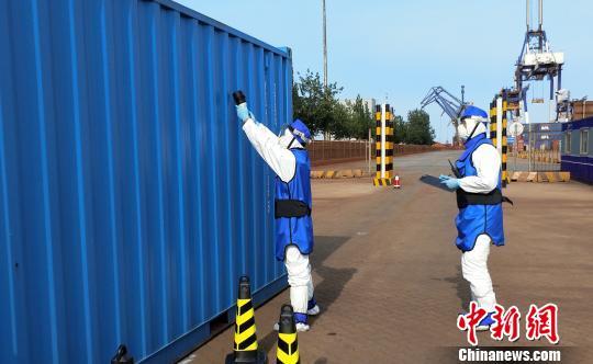 中国举办口岸核与辐射涉恐演练 首用无人机放射性监测系统