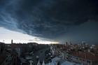 威尼斯上空乌云密布