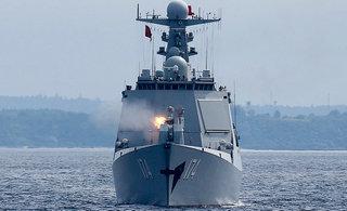 中俄欧洲海上军演精锐战舰尽出