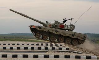 中国96B坦克在俄首赛告捷