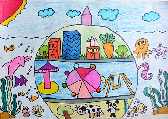 想·未来——我的世界网友作品:海景世界