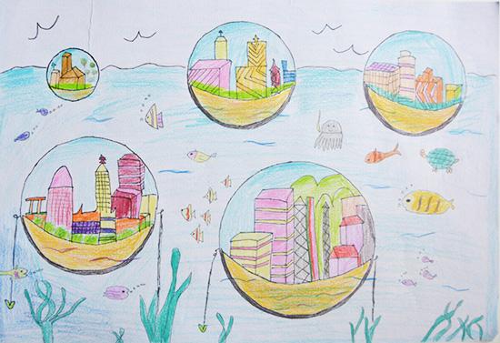 想·未来——我的世界网友作品:玻璃泡空间.