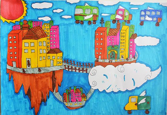 想·未来——我的世界网友作品:浮空城