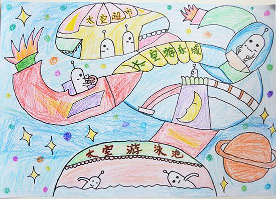 想·未来——我的世界网友作品:太空游乐城