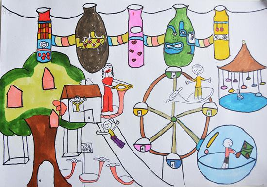 想·未来——我的世界网友作品:中心树游乐世界