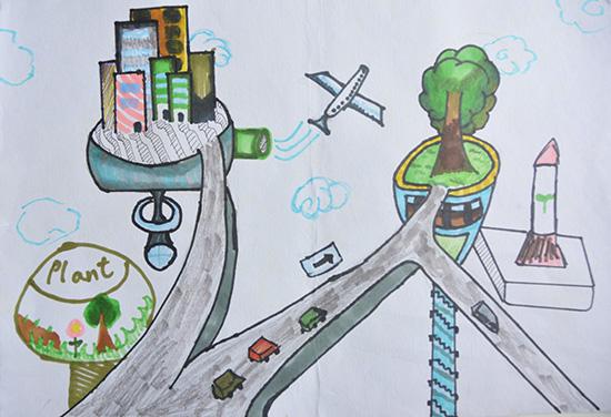 想·未来——我的世界网友作品:生态浮空城
