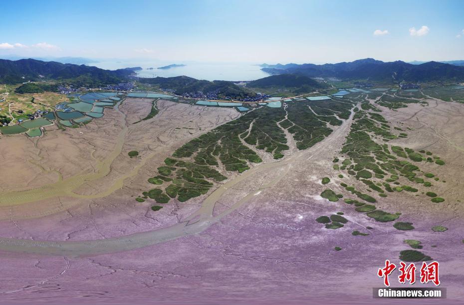 航拍福建霞浦滩涂 CNN评出40个中国最美地方之一