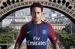 曝内马尔48小时加盟巴黎 背靠埃菲尔铁塔亮相!
