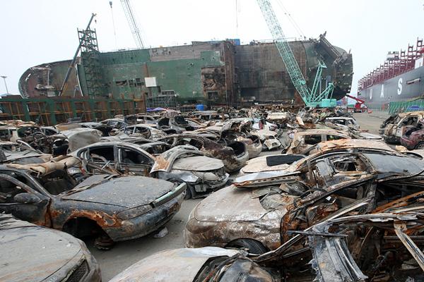 """""""世越""""号沉船货舱里发现100多辆车"""