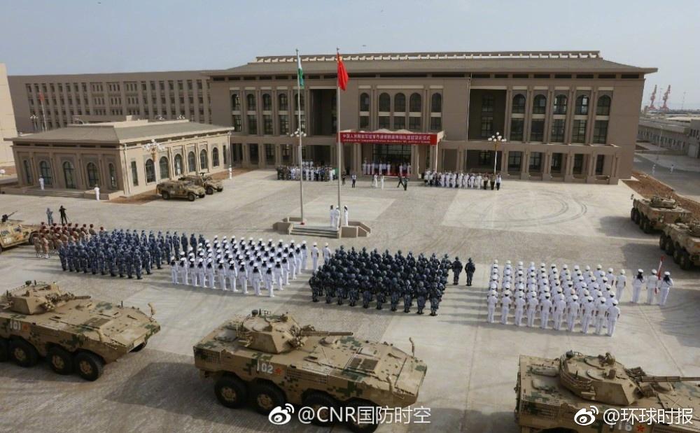 中国首个海外基地八一开营 为海军提供高效补给