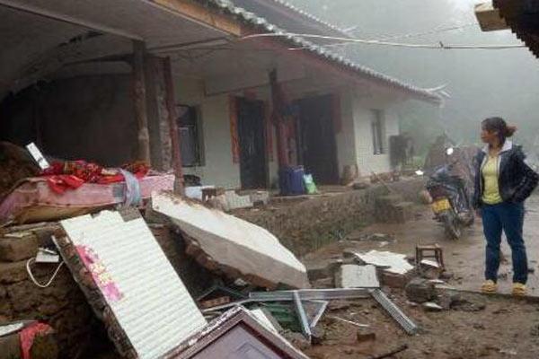 云南镇沅暴雨引发山体滑坡致3人死亡