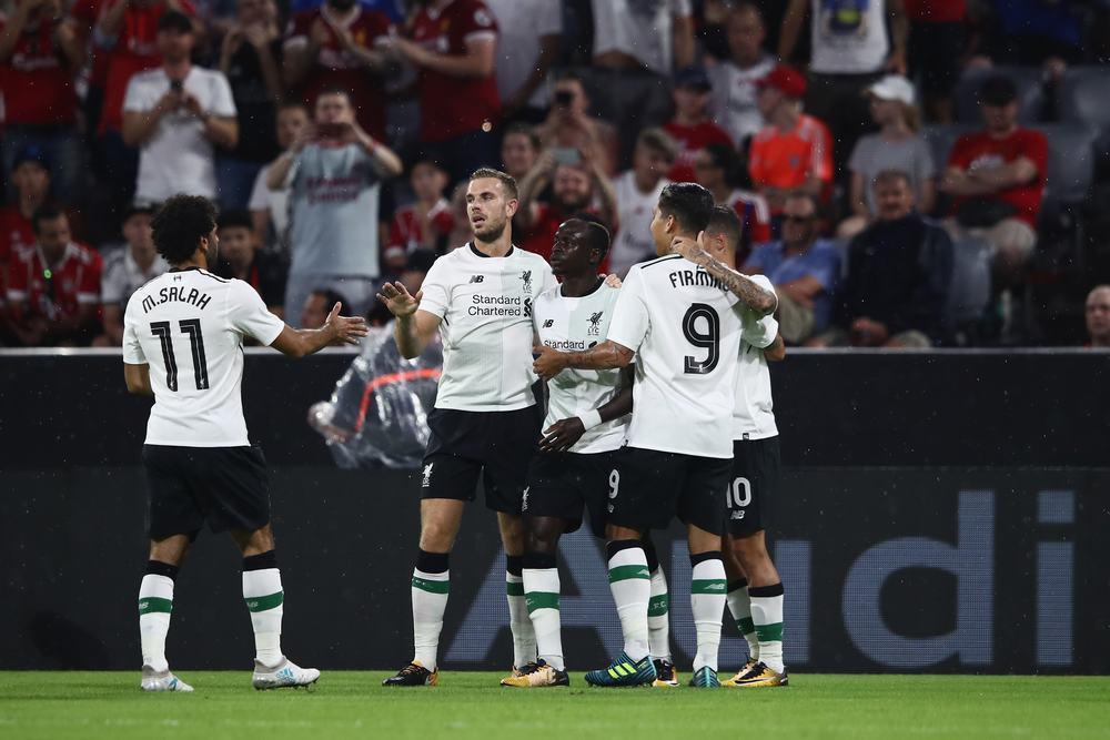 奥迪杯-马内萨拉赫斯图三箭齐发 利物浦3-0拜仁
