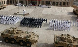 中国驻吉布提基地部队进驻仪式