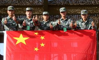 中国防空兵以震惊优势领跑比赛