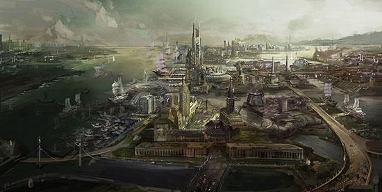 想·未来——我的世界网友作品:俯瞰未来