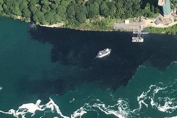 这不是原油泄漏!这是被污染的尼亚加拉大瀑布河水