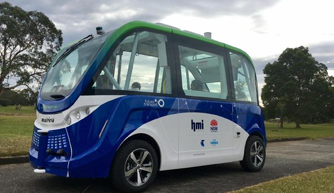 悉尼试验无人驾驶摆渡车 没司机的车你敢坐吗