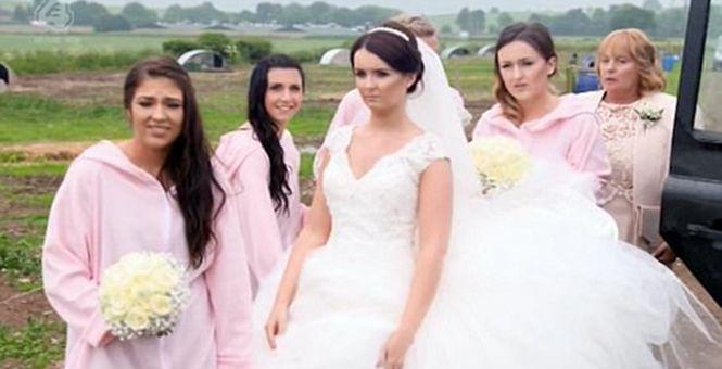 英国新郎花12万办猪主题婚礼 50头猪令新娘生无可恋