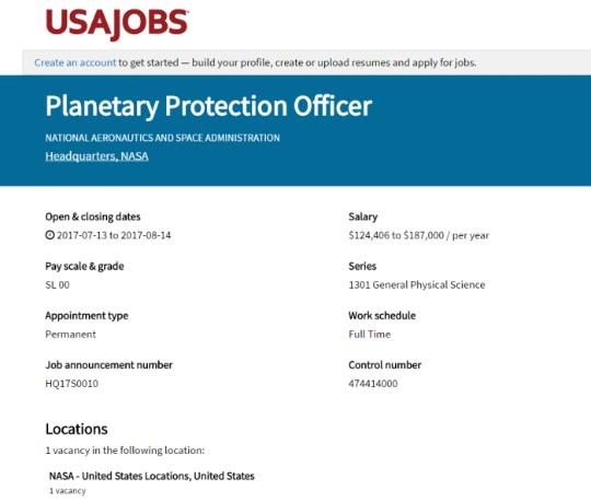 围观!这些是NASA行星保护官的工作职责