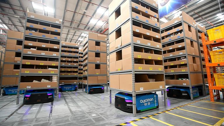 超百台机器人运行 菜鸟机器人仓库引外媒热评
