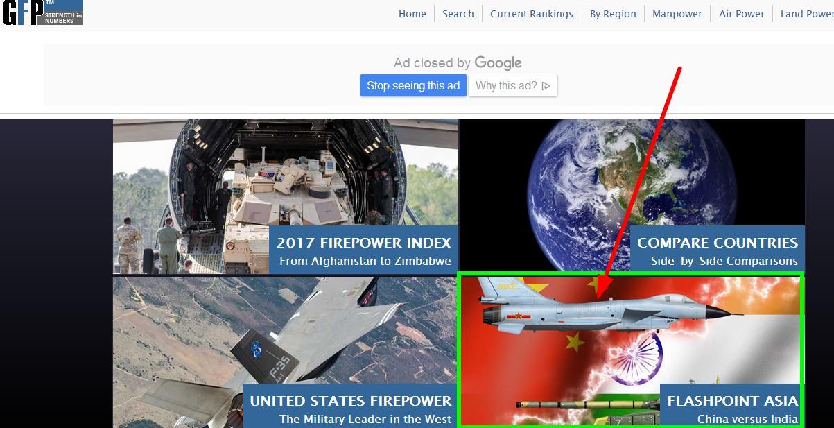 美网站发布中印军力对比图解放军报提醒印度好自为之