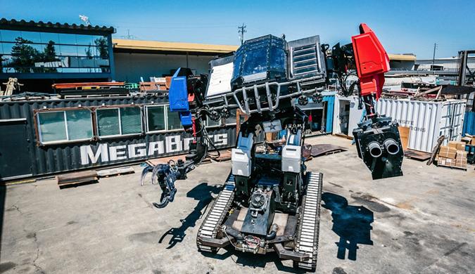 """美国机甲机器人下月中日巨型机器人展开""""厮"""