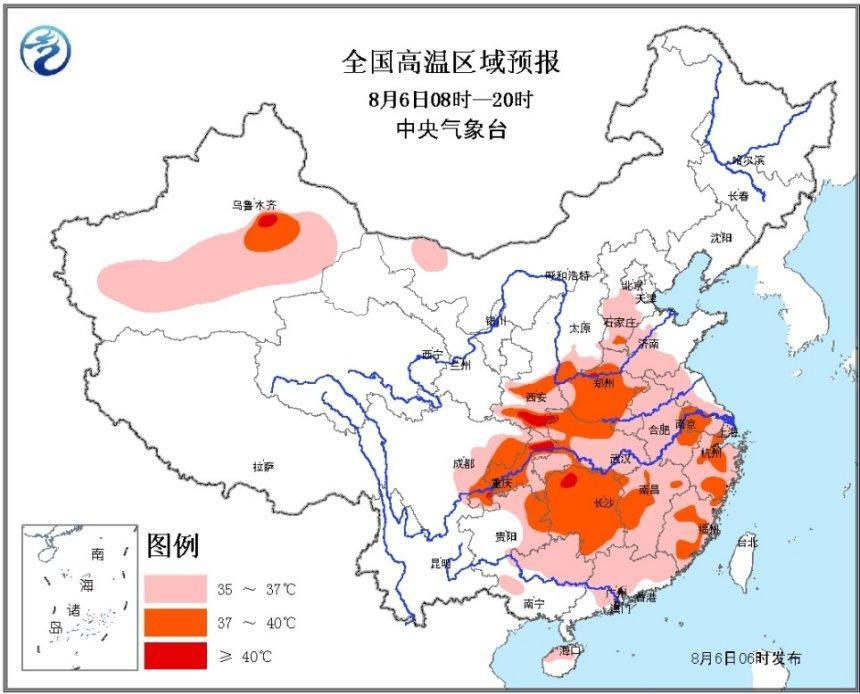 高温黄色预警持续:陕西河南等局地可超过40℃