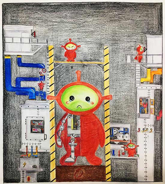想·未来——我的世界网友作品:涂鸦
