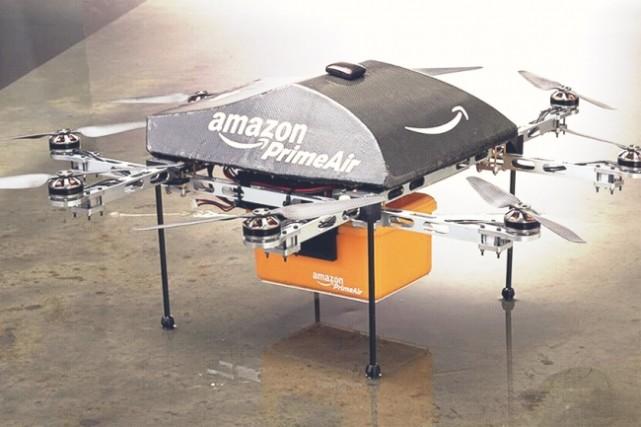 亚马逊计划在火车等移动交通工具上建造无人机站