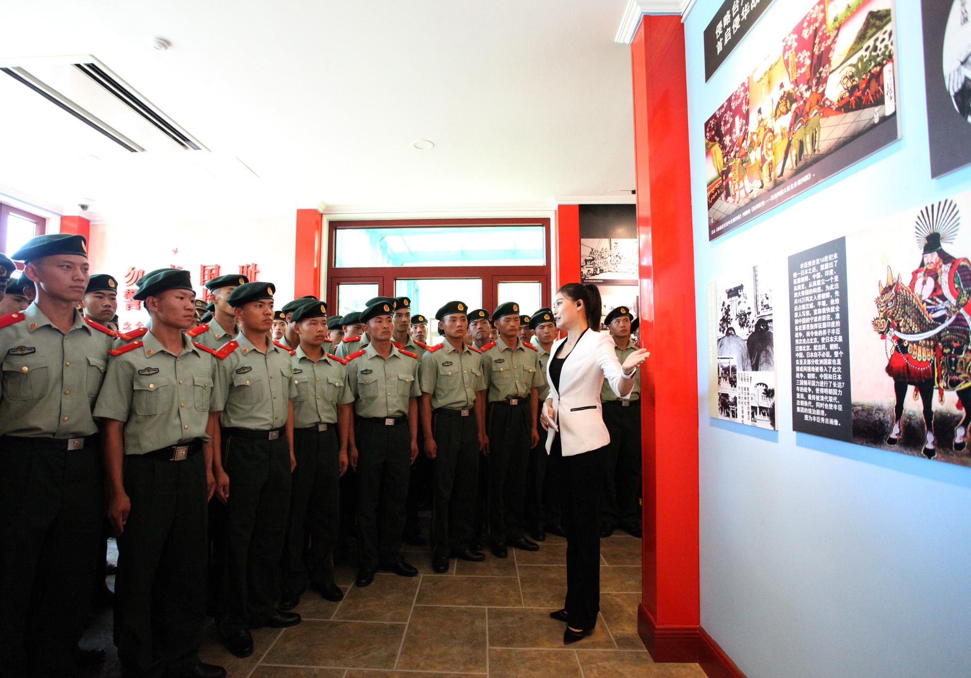 武警部队某部160名战士参观翰林苑爱国教育基地