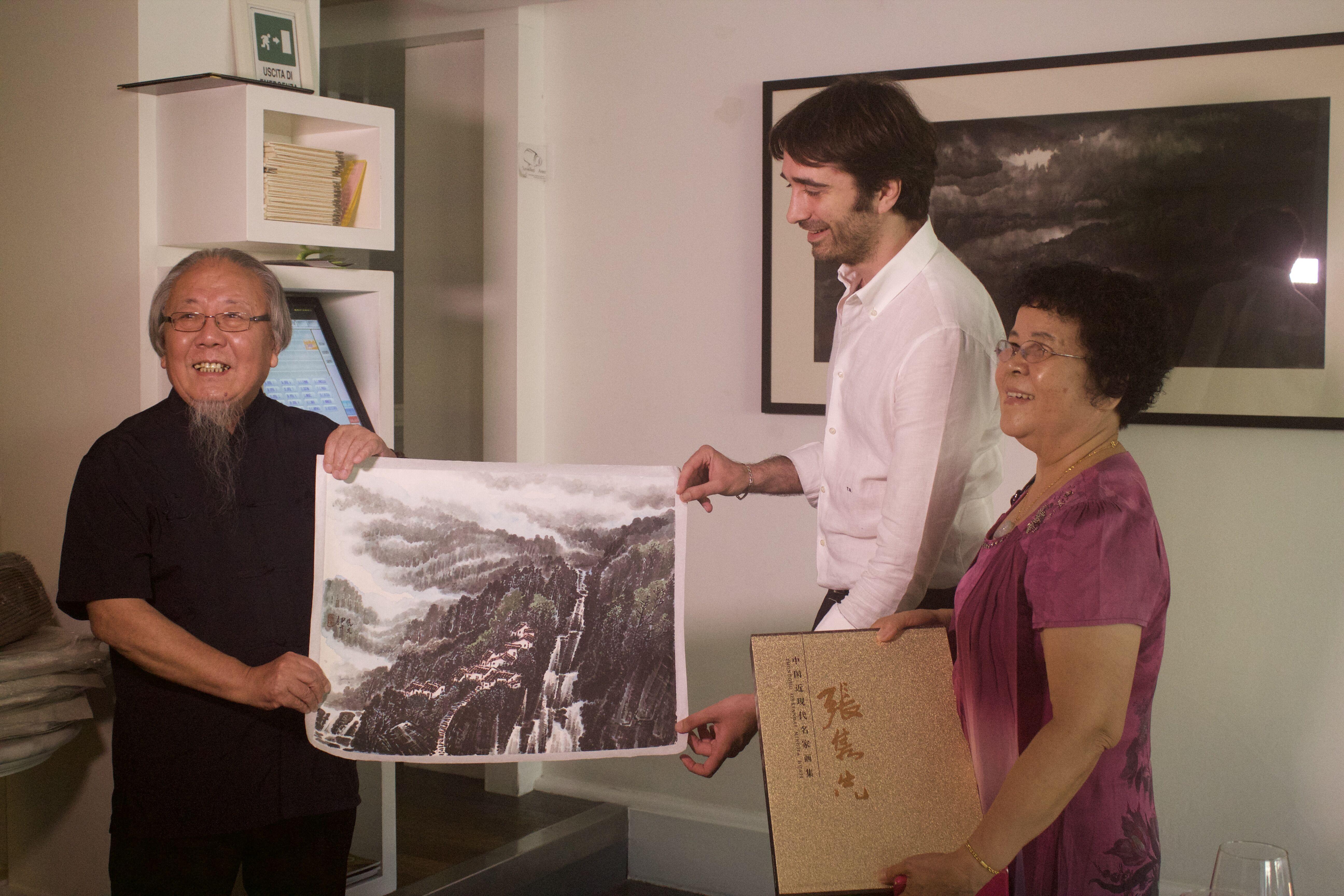 张隽先当代水墨艺术作品展在佛罗伦萨举办
