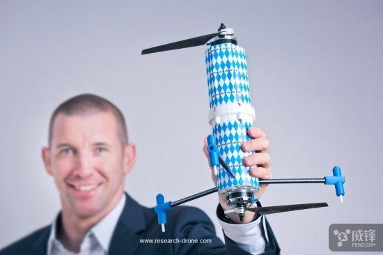 二旋翼航拍无人机DuoCopter 平稳航拍还更省电