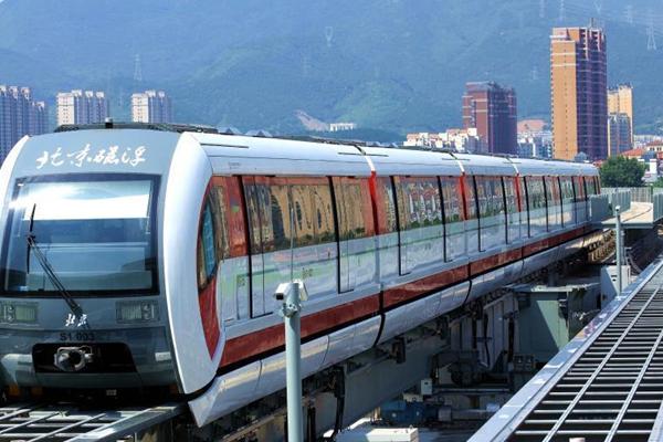 北京首条磁悬浮列车线测试 年底可通车