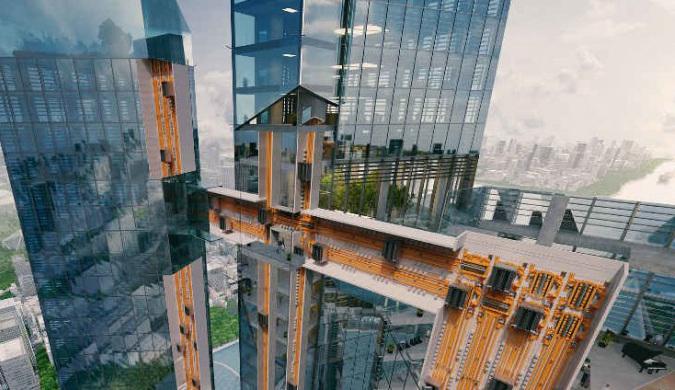 德国公司研发可在不同建筑物之间水平移动的电梯