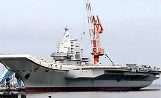 国产航母最新进展:脚手架拆除