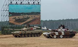 坦克两项赛中国坦克和对手狂飙