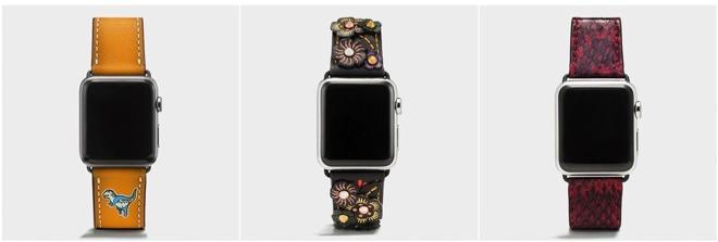 Coach推出6款全新Apple Watch表带 150美元起