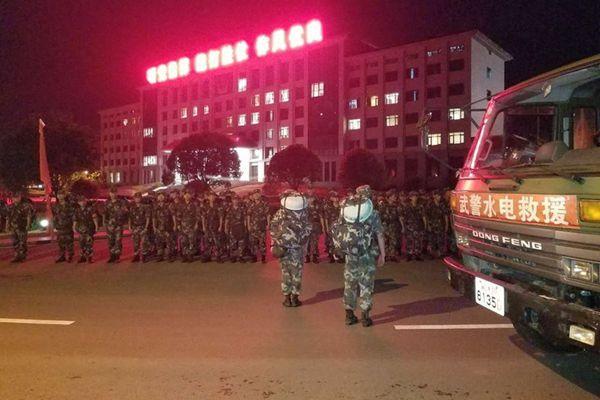 四川九寨沟7.0级地震:武警水电部队集结前往灾区