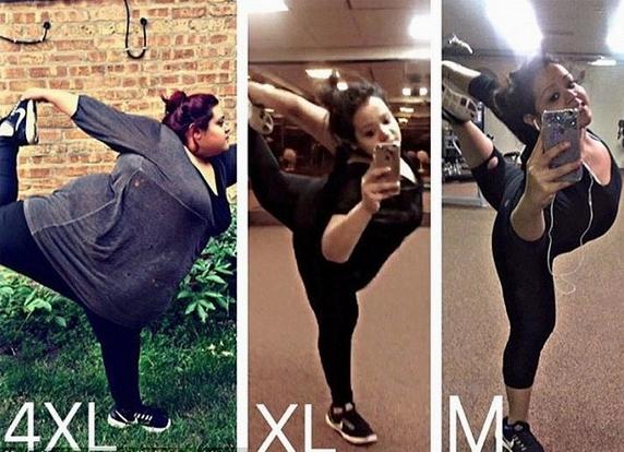 励志!美胖女孩2年半艰苦甩肉218斤重获健康